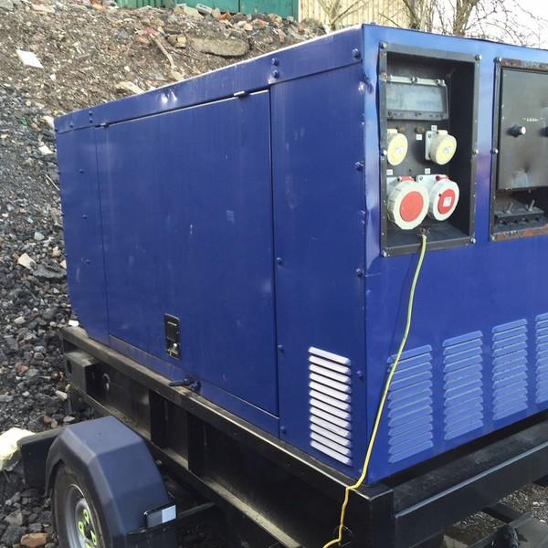 30KVA Ingasole Rand Generator on fast tow frame