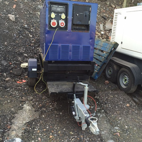 30KVA Ingasole Rand Generator on fast tow frame for sale