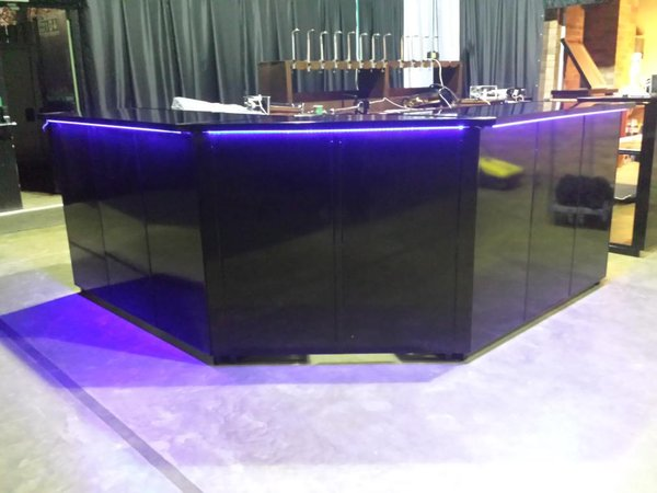 Secondhand chairs and tables bar units