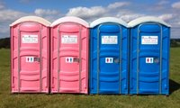 PolyJohn PJN3 Pink & Blue Single Plastic Loos