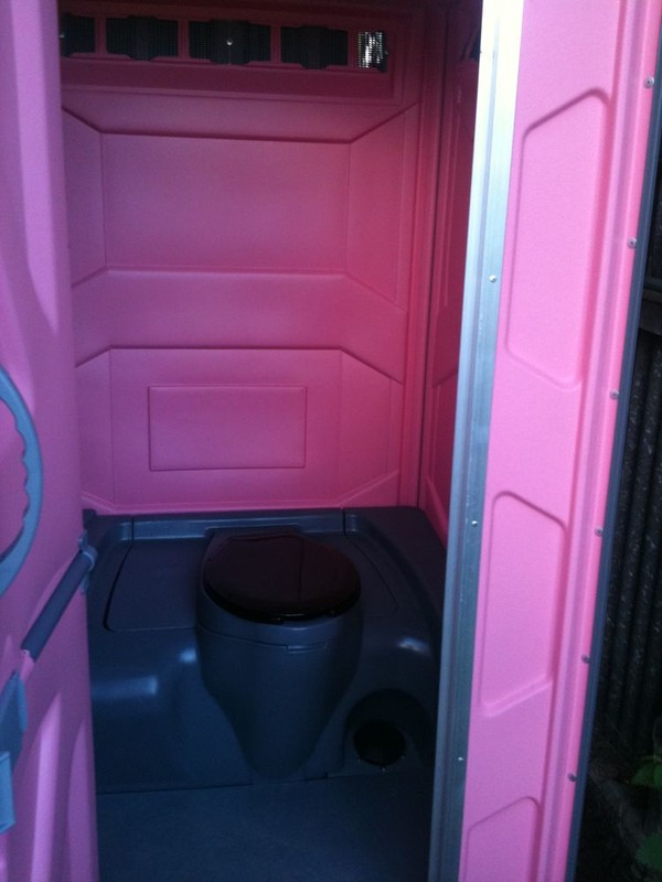 Single Portable Loos in Pink