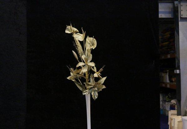 Gold silk flower stems