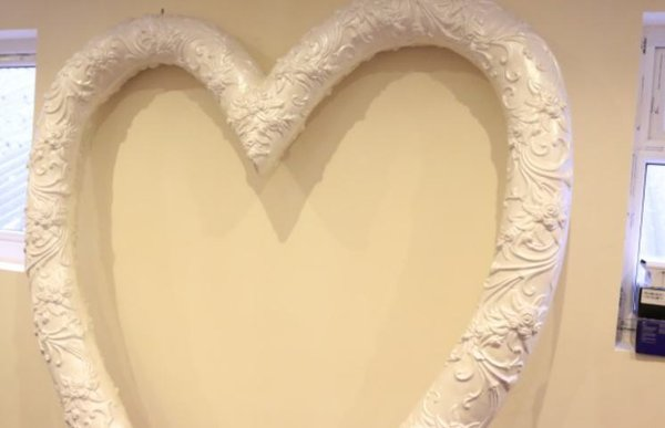 7 ft Fibre Glass Heart