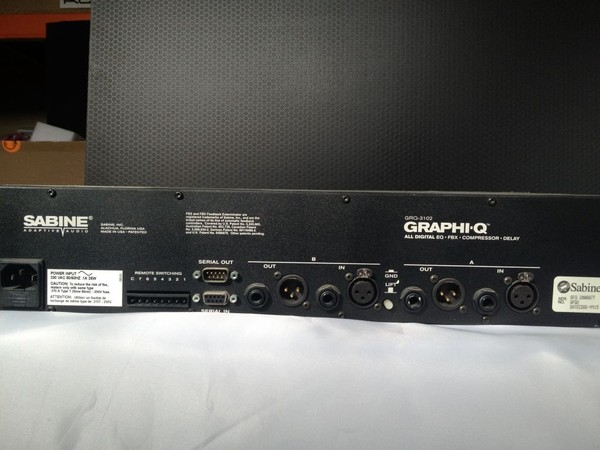Used Sabine Graphi-Q for sale