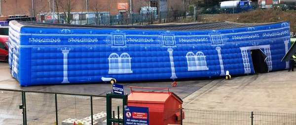Blue Inflatable Structure