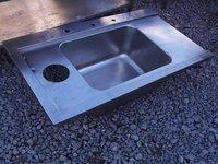 Stainless steel single sink top