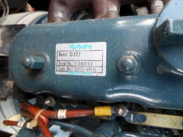 Kubota D722 Diesel engin