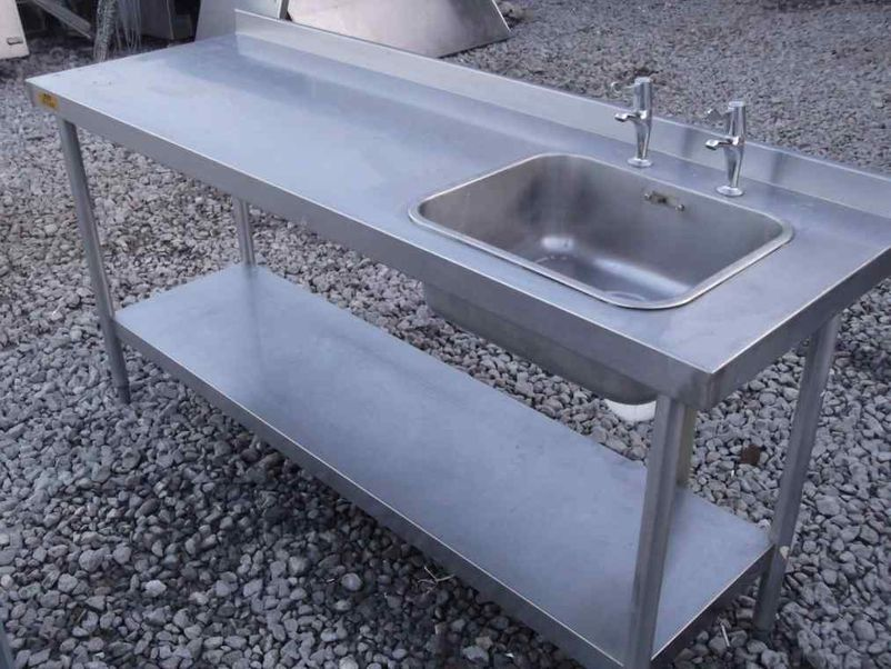 commercial stainless sinks 1 2m commercial stainless steel sink with cupboard and utility. Black Bedroom Furniture Sets. Home Design Ideas