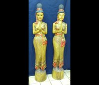 Pair 2 Sawasdee Thai Lady Statues