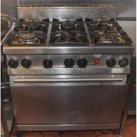 Stainless Steel 6 Burner Cooker & Oven