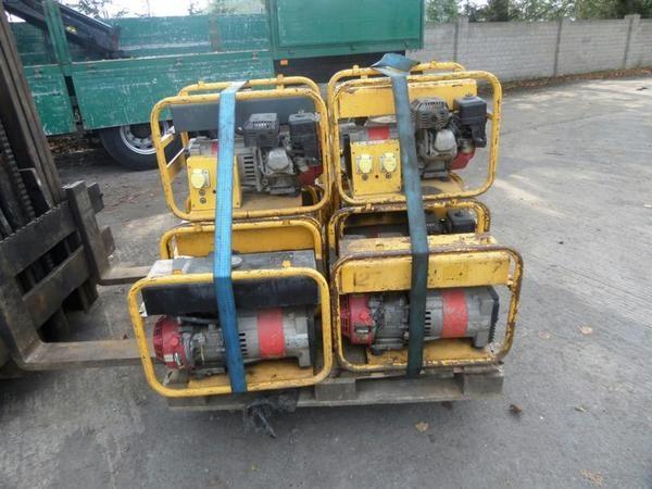 Small Honda Petrol Generators secondhand