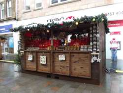 Huts for a christmas themed markets