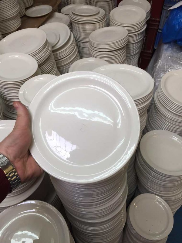 White dudson plates
