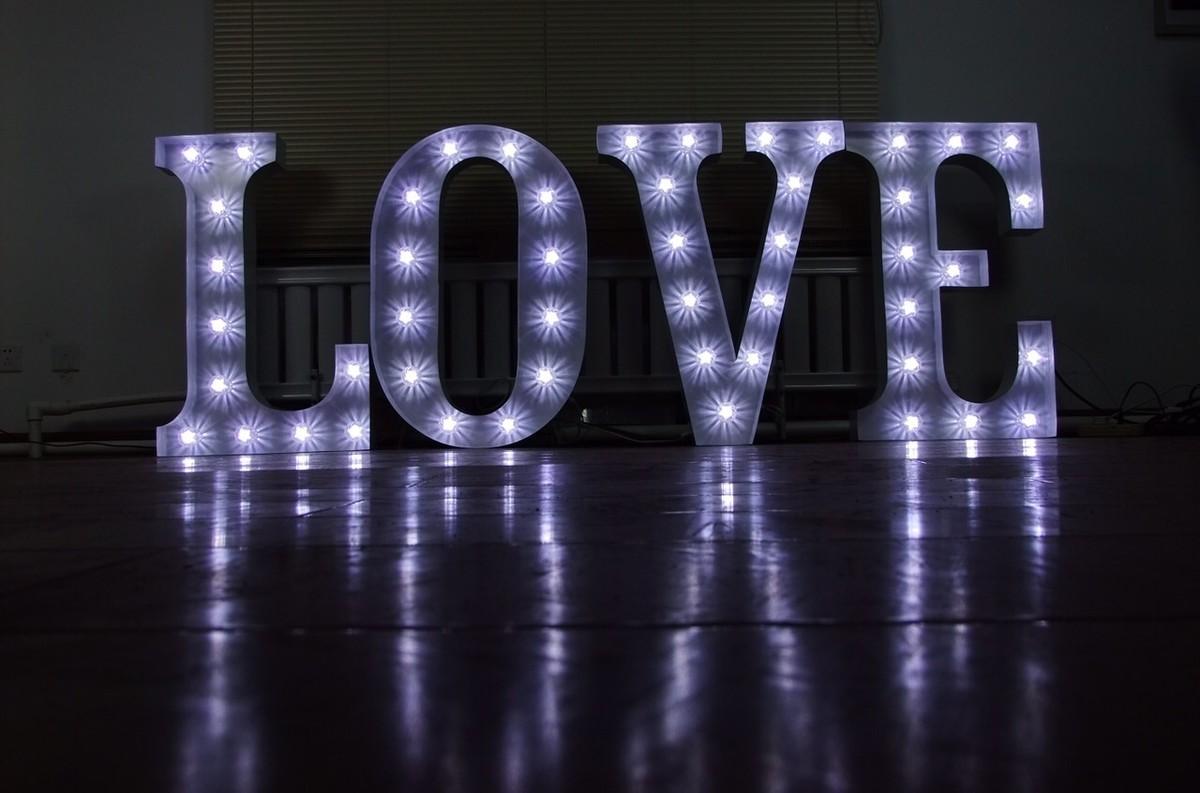 letters sign light secondhand 3ft prop websites index used