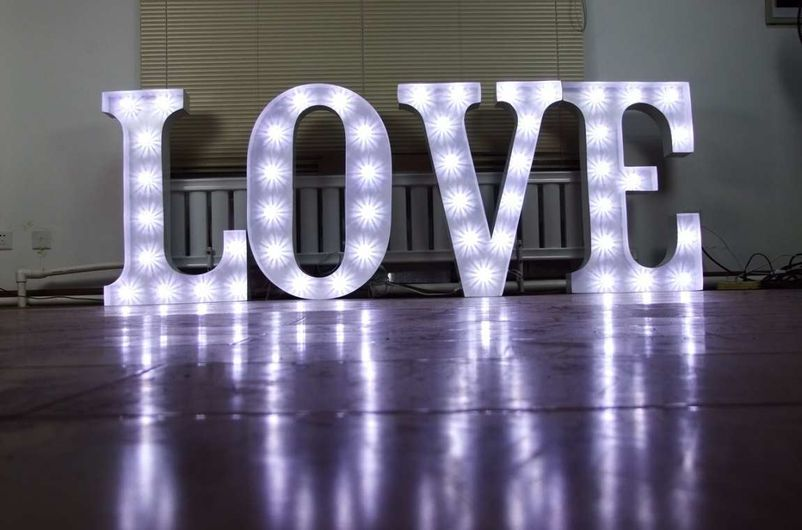 secondhand prop shop theming and decor large 3ft light With giant light up letters for sale