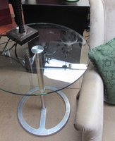 Round Glass Side Drinks Table