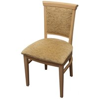 Upholstered Seat & Back Solid Wood Sidechairs for sale