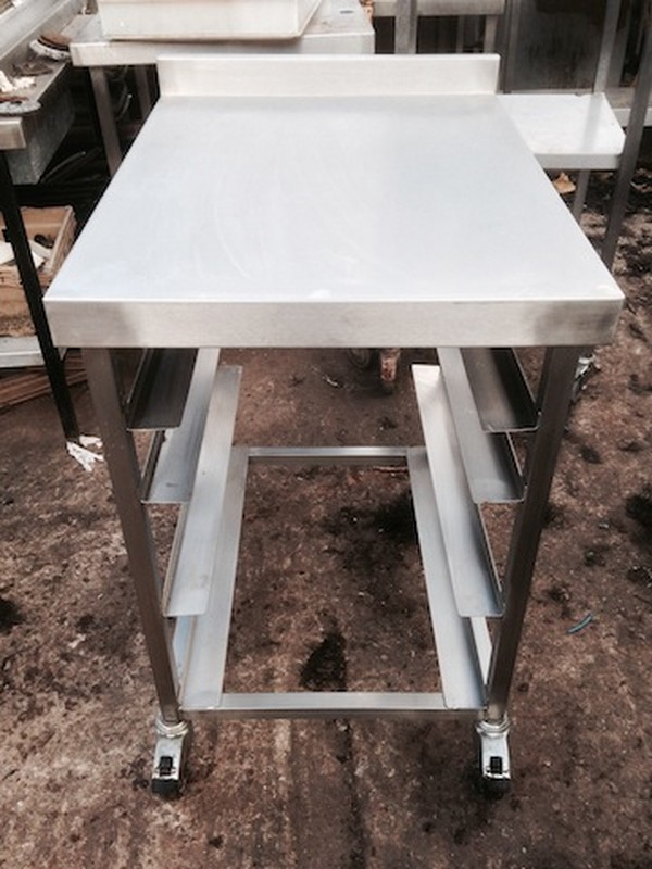 600mm x 800mm Stainless Steel Table