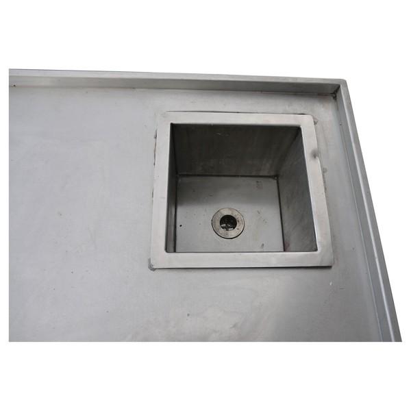single sink with shelf