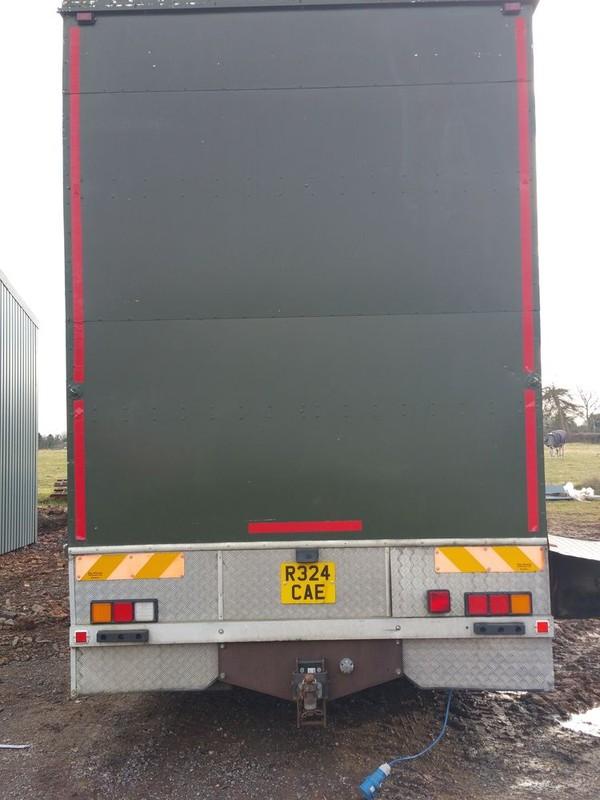 Back of fridge and freezer lorry
