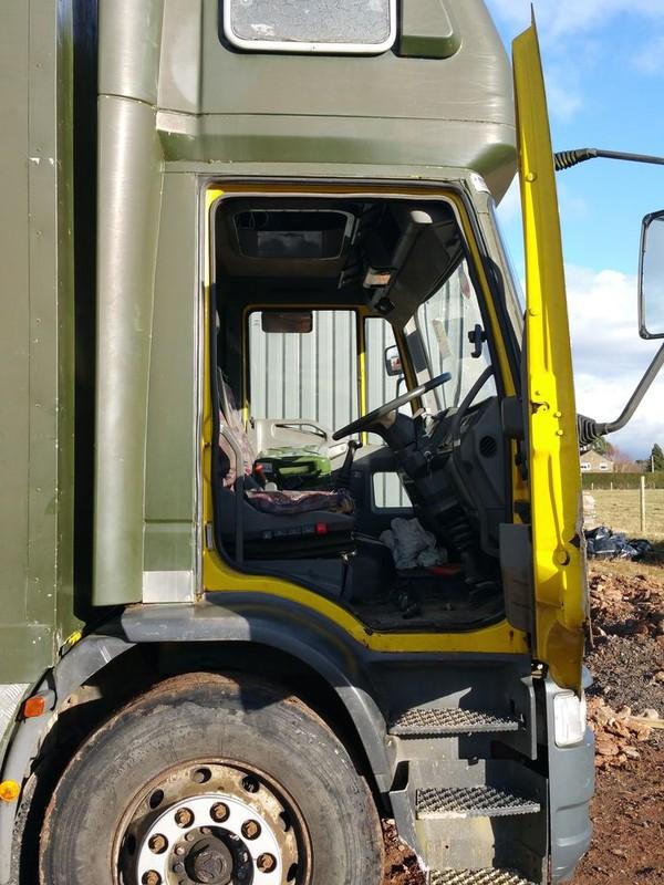 fridge and freezer lorry cab