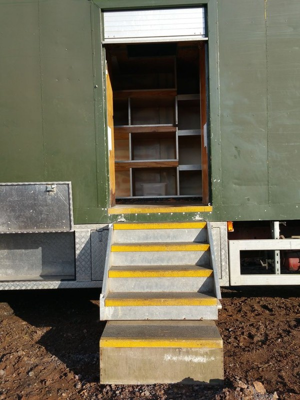 fridge and freezer lorry  entrance with steps