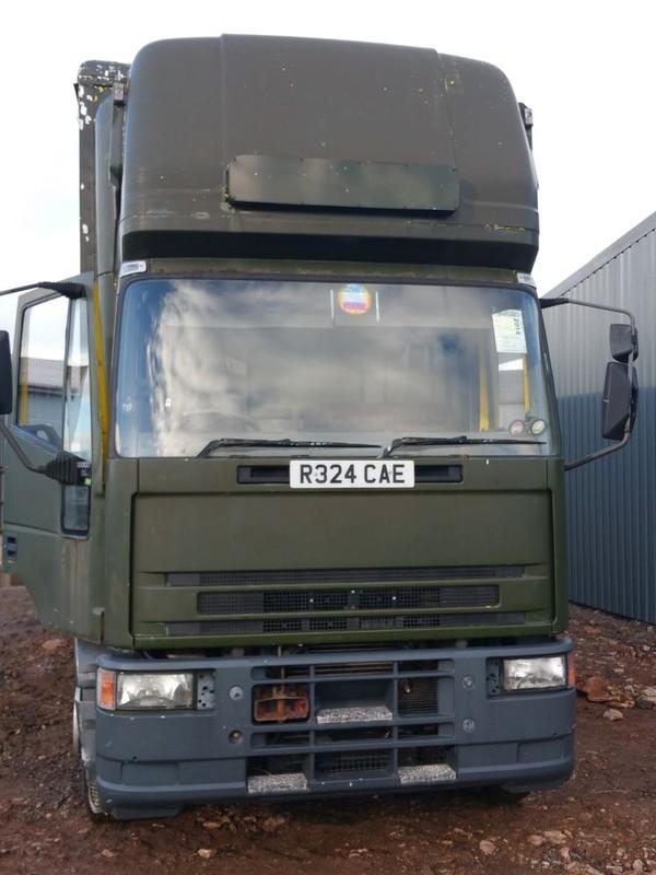 Front of fridge and freezer lorry