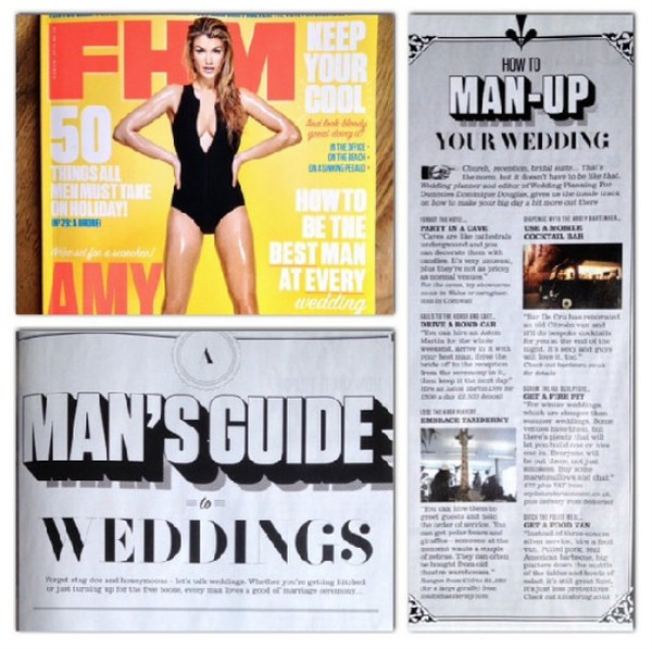 FHM feature - How to man up your wedding