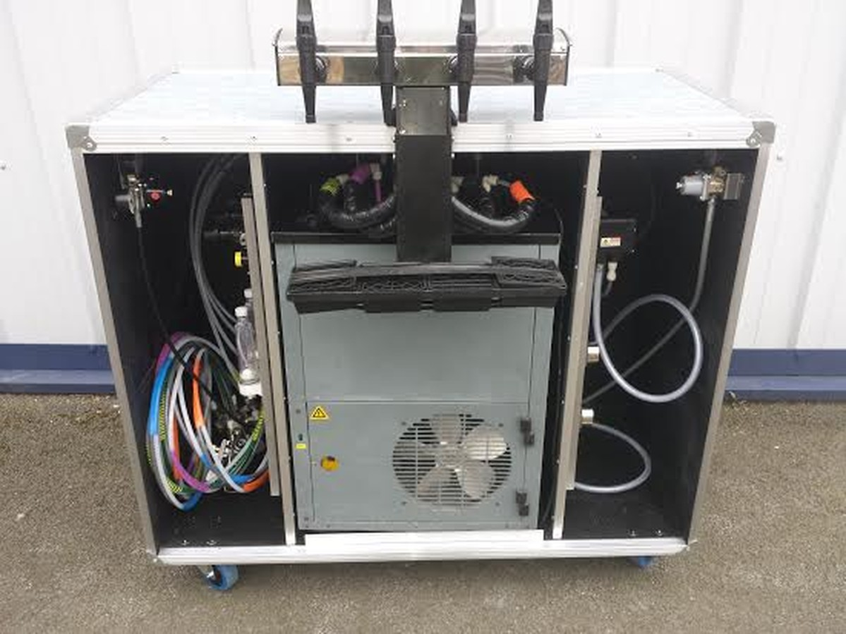 Mobile Bar With Dispense System In Flight Case Style On Wheels ...