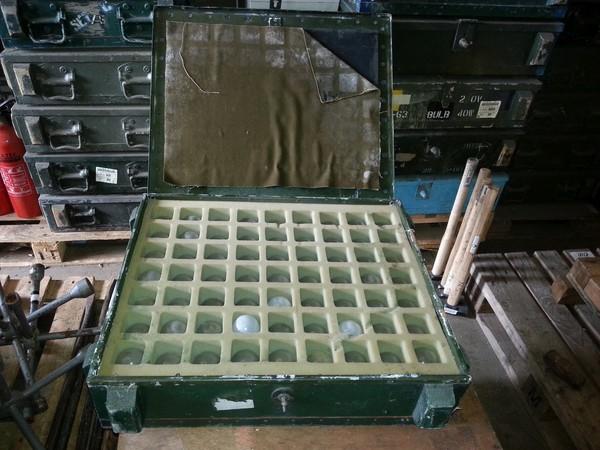 110v light bulbs and transport box