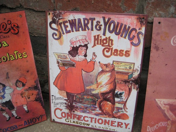 Stewart & Young's Confectionery steel sign