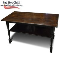 Solid Wood Table with Shelf