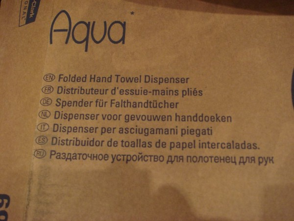 Aqua Paper Hand Towel Dispenser info