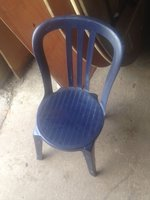 Blue Plastic Cafe Chairs