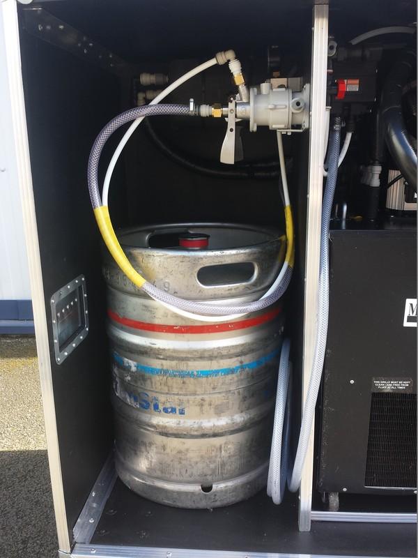 Dispense system for mobile bar