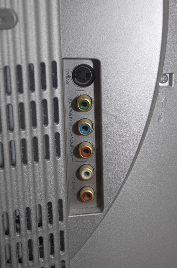 LG Flat Screen TV connection points