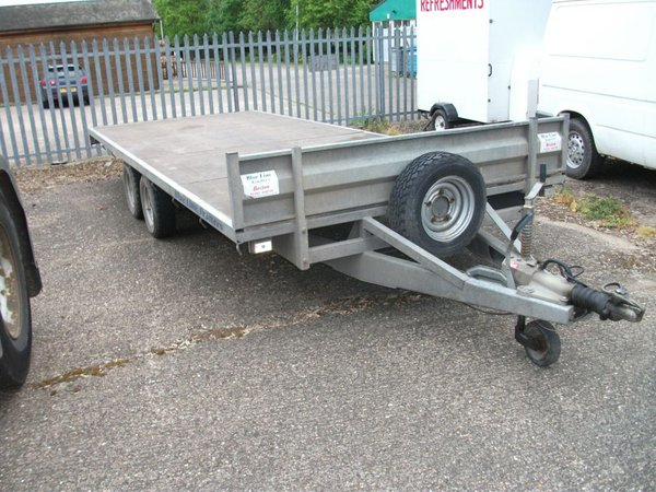 Buy Used Blue Line Flat Bed Trailer
