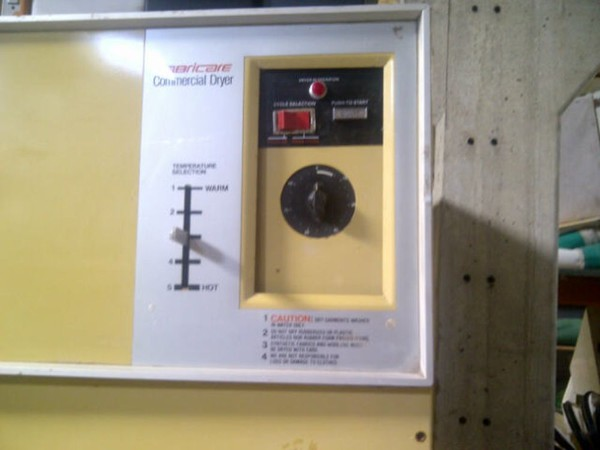 Fabricare Gas Tumble Dryer controls