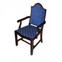 Luxury Refurbished Mahogany Chequered Arm Chair