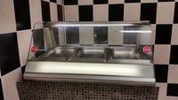Heated food display counter