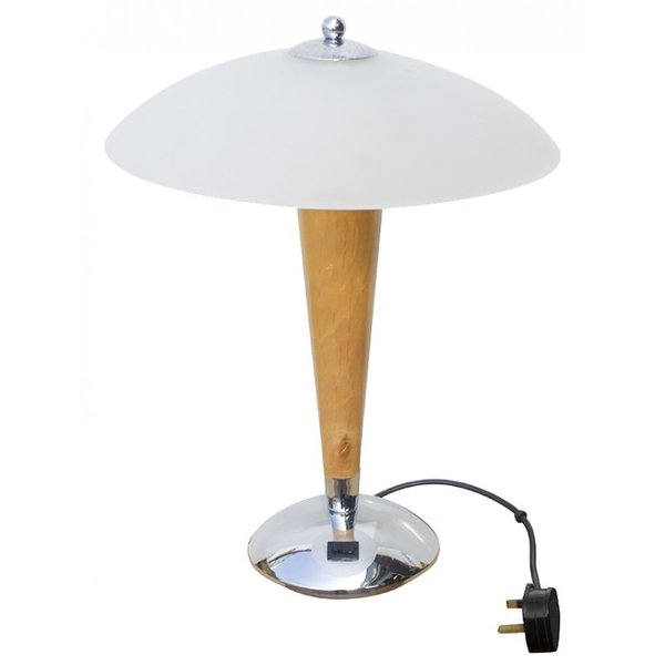 Lamp with Glass Shade