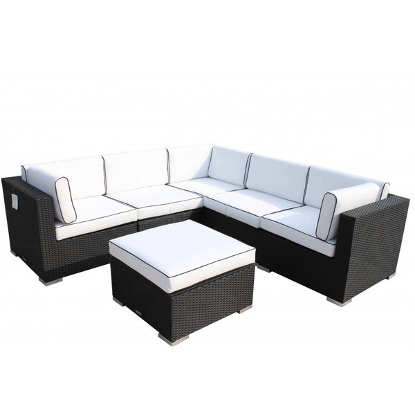 The Florida Outdoor Rattan Corner Sofa Set.