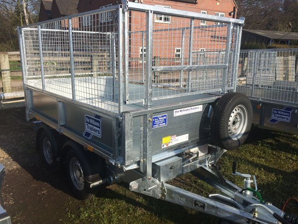 Ifor Williams trailer with cage sides