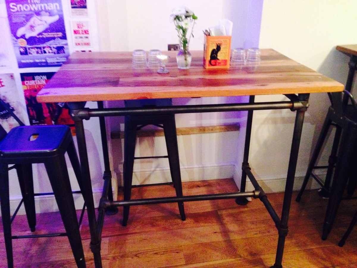 industrial furniture london. industrial reclaimed cafe tables furniture london