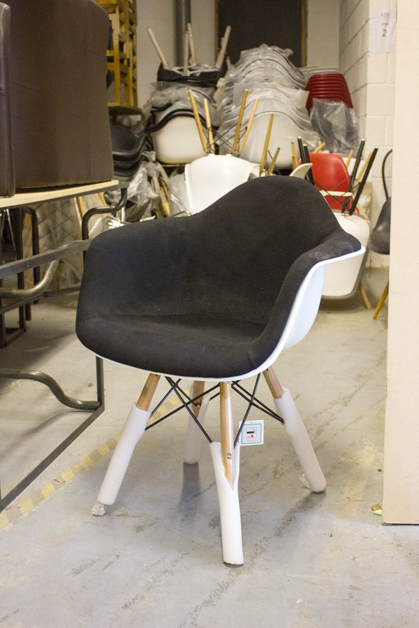 Upholstered Eames Replica Armchair
