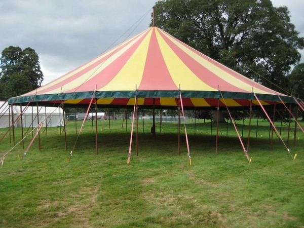 Used Festival stripy big top for sale