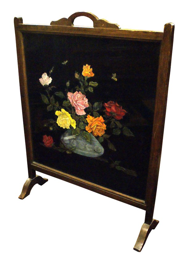 Painted Fire Screen