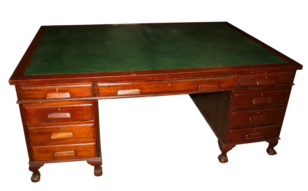 Antiques Bazaar Desks And Bureaus Leather Top Mahogany