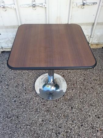70 x 70cm Tables with Chrome trumpet pedestal base