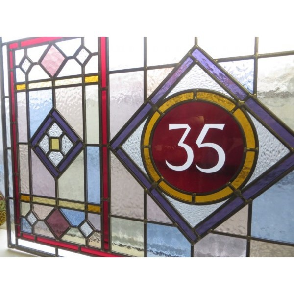 Edwardian leaded glass